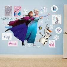 Disney Frozen - Ice Skating  Peel and Stick Wall Decal