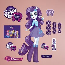 Hasbro My Little Pony - Rarity - Equestria Girls Peel and Stick Wall Decal