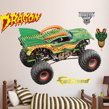 Feld - Monster Truck - Dragon Peel and Stick Wall Decal