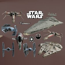 Star Wars Original Trilogy Spaceships Peel and Stick Wall Decal