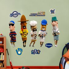 MLB Milwaukee Brewers Mascots Racing Sausages Wall Decal