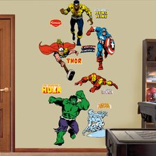 Super Heroes Classic Heroes Wall Decal