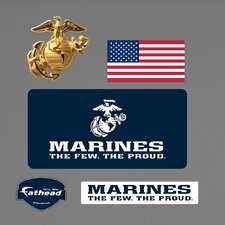 Military USMC Logo Wall Decal