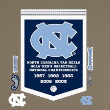 NCAA North Carolina Tar Heels Basketball Championship Banner Wall Decal