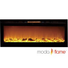 Cynergy Log Built-In Wall Mounted Electric Fireplace