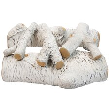 5 Piece Ceramic Fireplace Gas Log Set