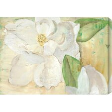 Magnolias by Laura Gunn Painting Print Canvas in Yellow