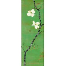 Dogwood by Laura Gunn Painting Print Canvas in Green