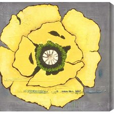 """""""Poppies II"""" by Laura Gunn Painting Print Canvas in Yellow"""
