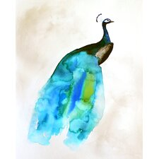 Peacock II by Christine Lindstrom Painting Print