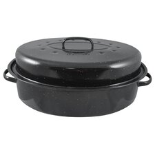 "19"" Non-Stick Carbon Steel Roaster with Lid"
