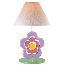 "Hippie Spinning Flower 22.5"" H Table Lamp with Empire Shade"