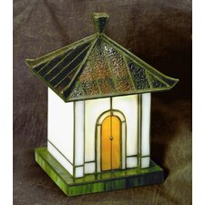 "Pagoda Tiffany 8.5"" H Table Lamp with Novelty Shade"