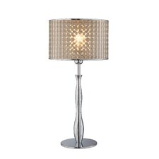"Optiska 25"" H Table Lamp with Drum Shade"