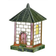 "Pagoda Tiffany 19.5"" H Table Lamp with Novelty Shade"