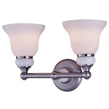 Princeton Vanity Wall Sconce in Polished Steel