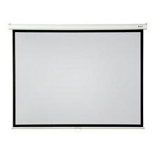 """High Contrast 120"""" diagonal Manual Projector Screen with Slow Retraction"""