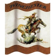 Winchester Horse and Rider Shower Curtain