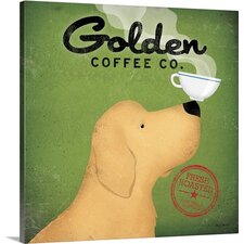 Golden Dog Coffee Co. by Ryan Fowler Gallery Graphic Art on Wrapped Canvas