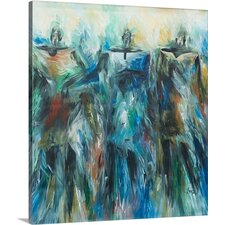 Novica- Feminine Role by Prince Asher Painting Print on Gallery Wrapped Canvas