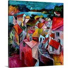 Mediterranean Evenings by Jonas Gerard Painting Print on Canvas