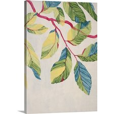 Candy Coated Leaves by Kari Taylor Painting on Wrapped Canvas