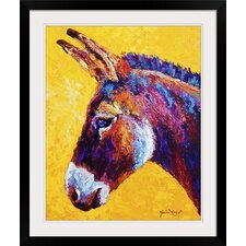 Donkey Portrait by Marion Rose Framed Painting Print