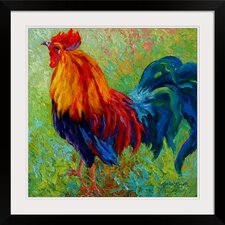 Band of Gold Rooster by Marion Rose Framed Painting Print