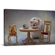 Another Cup of Tea by Ellen van Deelen Graphic Art on Canvas