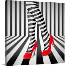 Red Shoes by Ihdar Nur Wall Art on Canvas