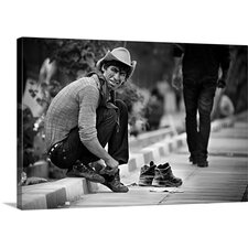 Changing Shoes by Ali Morshedlou Photographic Print on Canvas