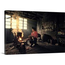 Jinkeng Traditional Kitchen by Mieke Suharini Photographic Print on Canvas