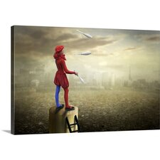 The Little Juggler at a High Level by Ben Goossens Photographic Print on Canvas