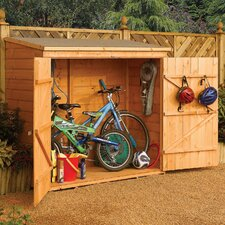 6 Ft. W x 2.5 Ft. D Wood Storage Shed