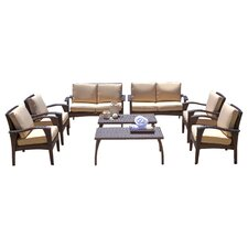 Irving Outdoor Wicker 8 Piece Seating Group with Cushions