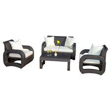 Ahola 4 Piece Seating Group with Cushions