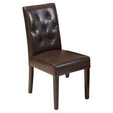 Autry Bonded Leather Upholstered Dining Chair (Set of 2)