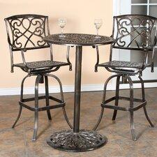 Hearst 3 Piece Bistro Bar Table Set