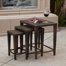Lionel 3 Piece Wicker Nesting Table Set