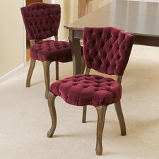 Yates Tufted Fabric Dining Chair (Set of 2)