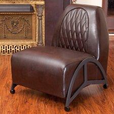 Dysert Leather Slipper Chair
