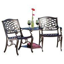 Labrie Cast Aluminum Seating Group Tete-a-Tete Bench Set