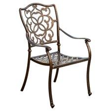 Pamplona Cast Aluminum Outdoor Dining Chair (Set of 2)