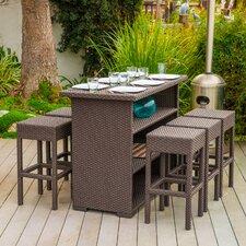 Redondo 7 Piece Outdoor Bar Set