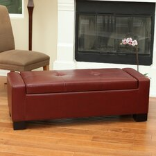 Eastport Leather Storage Ottoman