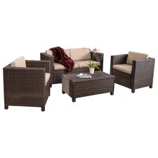 Puerta 4 Piece Seating Group with Cushions