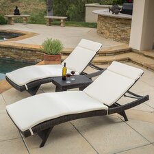 Rio Vista 3 Piece Chaise Lounge Set with Cushion