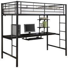 Twin Workstation Loft Bed with Desk