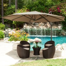 "11'6"" Durango Cantilevel Outdoor Canopy Umbrella with Base"