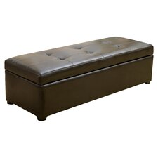 Hamptons Leather Storage Ottoman